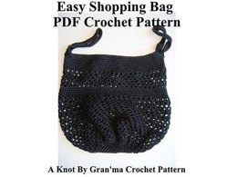 Easy Shopping Bag - PDF Crochet Pattern