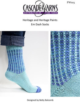 Em Dash Socks in Cascade Heritage and Heritage Paints - FW103