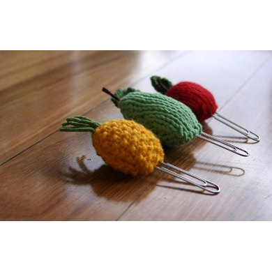 Fruit Bookmarks - Aple, Pear and Pineapple