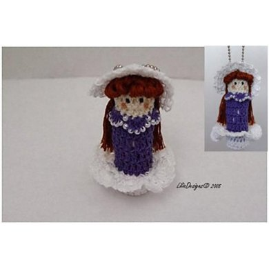 Crinoline  Doll Lip Balm Holder Crochet Pattern