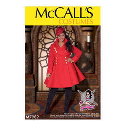 McCall's Women's Costumes M7989 - Sewing Pattern