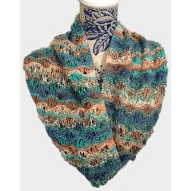 Knitting Pattern Lace Infinity Scarf : Aphroditia Lace Cowl Infinity Scarf Knitting pattern by ...