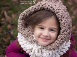 Textured Hooded Cowl Crochet Pattern 398
