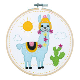 Vervaco Felt Craft Kit with Frame: Llama