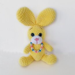 Plush Yellow bunny - Easter rabbit amigurumi