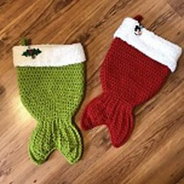 Mermaid Tail Christmas Stocking