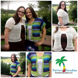 Sea Breeze Shrug Bolero PDF12-117