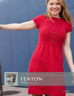 Fenton Dress in Juniper Moon Sabine - Downloadable PDF