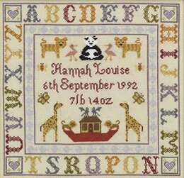 Historical Sampler Company Alphabet Birth Sampler Cross Stitch Kit - 27cm x 28cm