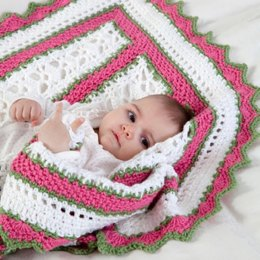 Summer Baby Blanket in Red Heart With Love Solids - LW2672
