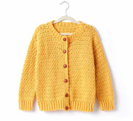 Adult's Crochet Crew Neck Cardigan in Caron Simply Soft - Downloadable PDF