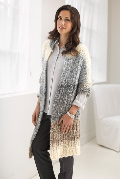 Casual Comfort Jacket In Lion Brand Homespun Thick Amp Quick