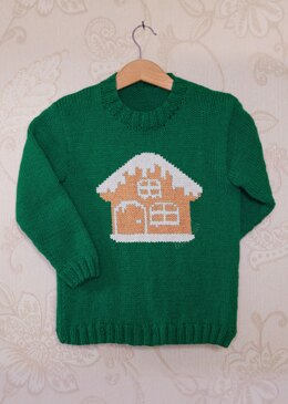 Intarsia - Gingerbread House Chart - Childrens Sweater