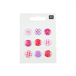 Rico Pink/Violet Button Mix