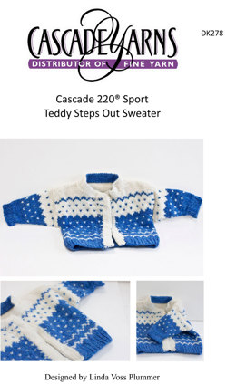 Teddy Steps Out Sweater in Cascade 220 Sport - DK278