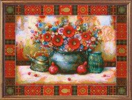 Riolis Still Life - Nick Japaridze Cross Stitch Kit - 40cm x 30cm