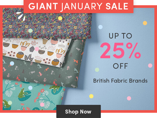 Up to 25 percent off British fabric brands!