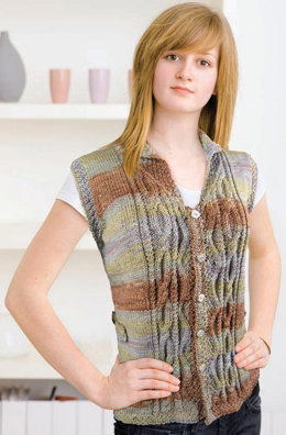 Vest in Knit One Crochet Too Ty-Dy Wool - 1834