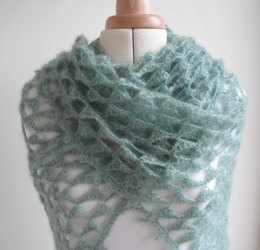 Angel's triangles shawl