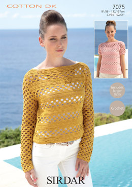 Sweaters in Sirdar Cotton DK - 7075 - Downloadable PDF