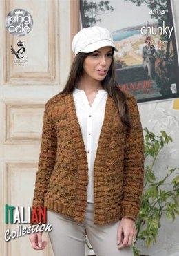 Honeycomb Jacket and Sweater in King Cole Venice Chunky - 4304 - Leaflet