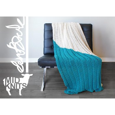 Triangle Color Blocked Throw Blanket (2015002)