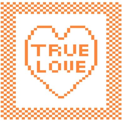 'True Love' Heart Dishcloth