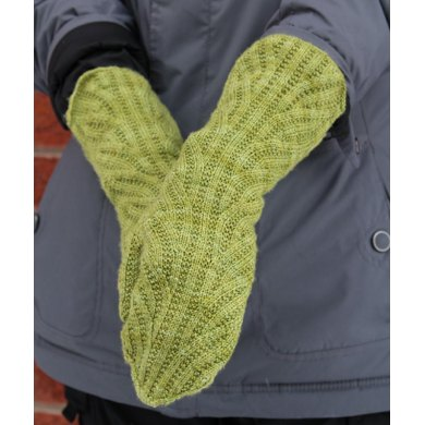 Interrupted swirl mitts