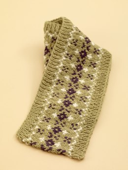 Fair Isle Scarf in Lion Brand Wool-Ease - 70533AD