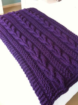 Braided Cable Chunky Blanket / Throw