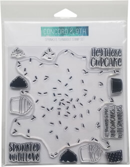 """Concord & 9th Clear Stamps 6""""X6"""" - Sprinkles Turnabout"""