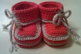 Asymmetrical Baby Booties
