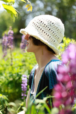 Cotton Sun Hat in Lion Brand Nature's Choice Organic Cotton - L10459