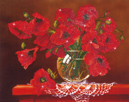 Diamond Dotz Red Poppies Diamond Painting Kit