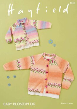 Cardigans in Hayfield Baby Blossom DK - 4838 - Downloadable PDF