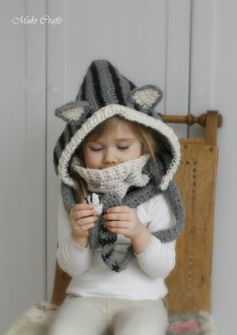 Cat hood and cowl set Misty
