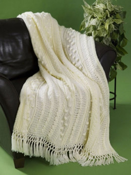Aran Afghan in Caron Simply Soft - Downloadable PDF