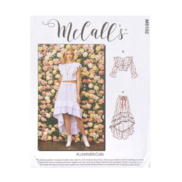McCall's Misses' Button Front Top and Skirt M8102 - Sewing Pattern