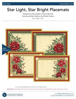 Windham Fabrics Star Light, Star Bright Placemats - Downloadable PDF