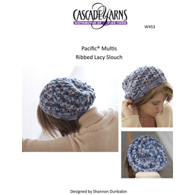 Ribbed Lacy Slouch Cascade Pacific Multis - W453