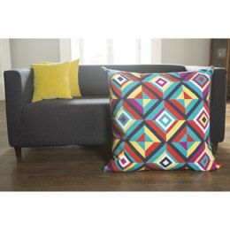 DMC The Big Chill Giant Tapestry Cushion - Geometric Zing