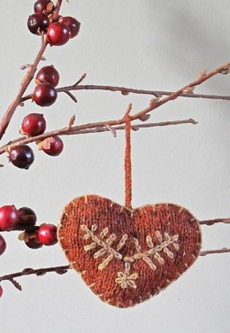 Heart Christmas Tree or Door Decoration