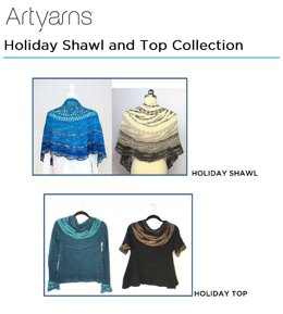 Holiday Shawl & Holiday Top in Artyarns Merino Cloud & Beaded Silk and Sequins Light - Downloadable PDF