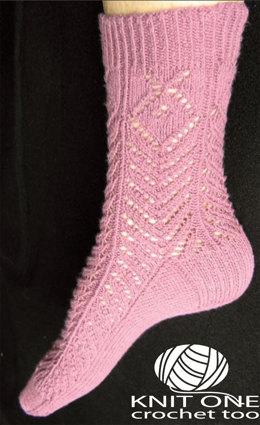 Thistle Socks by Knit One Crochet Too Pediwick - 1816 - Downloadable PDF