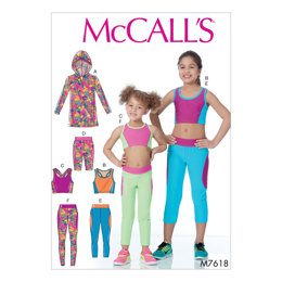 McCall's Children's/Girls' Activewear Tops and Leggings M7618 - Sewing Pattern