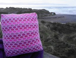 Textured coloured cushion cover