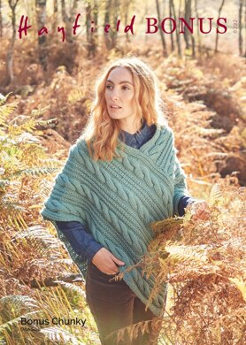 Poncho in Hayfield Bonus Chunky - 8292 - Downloadable PDF