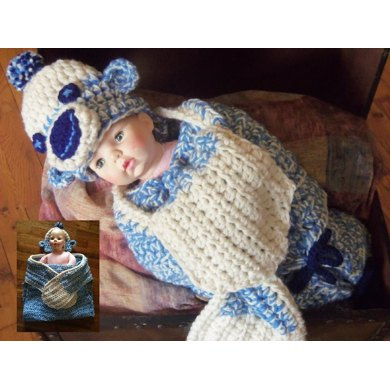 Chunky Sock Monkey Hug Swaddle Blanket Pattern
