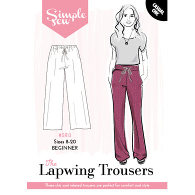 Simple Sew Patterns The Lapwing Trousers SR13 - Sewing Pattern