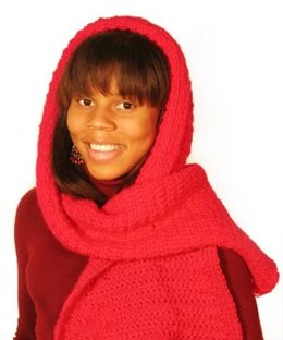 Little Red Riding Hood's Hooded Scarf in Lion Brand Wool-Ease